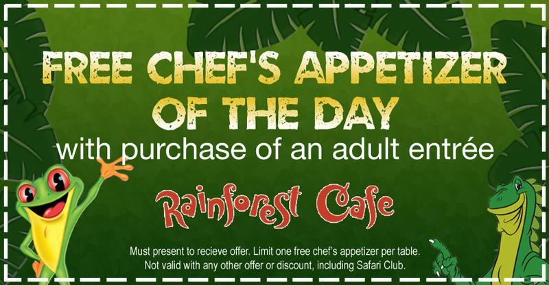 Rainforest cafe discount coupons